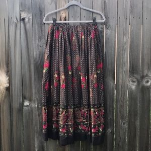 Vintage paisley maxi skirt